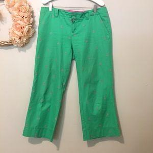 Lilly Pulitzer green Capri